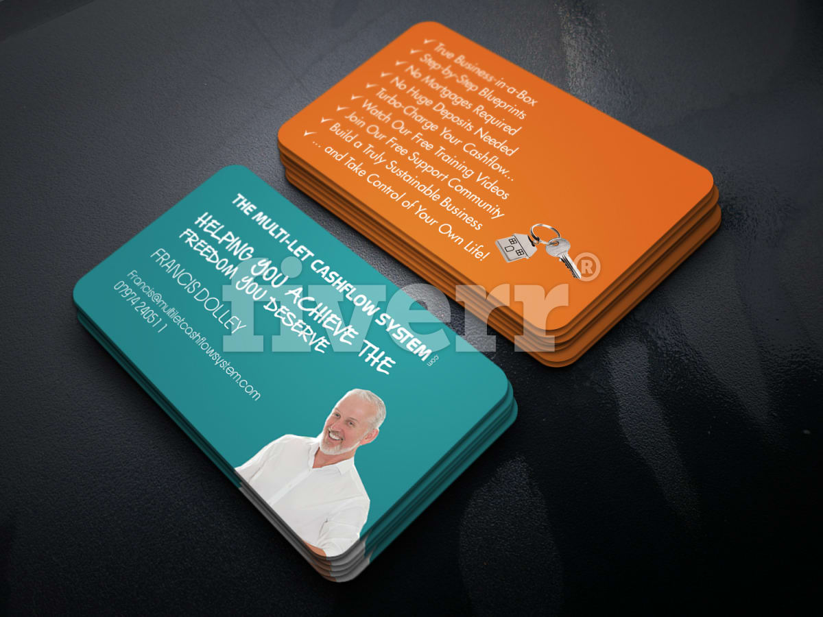 Make impressive double side business cards and logo by graphixocean colourmoves