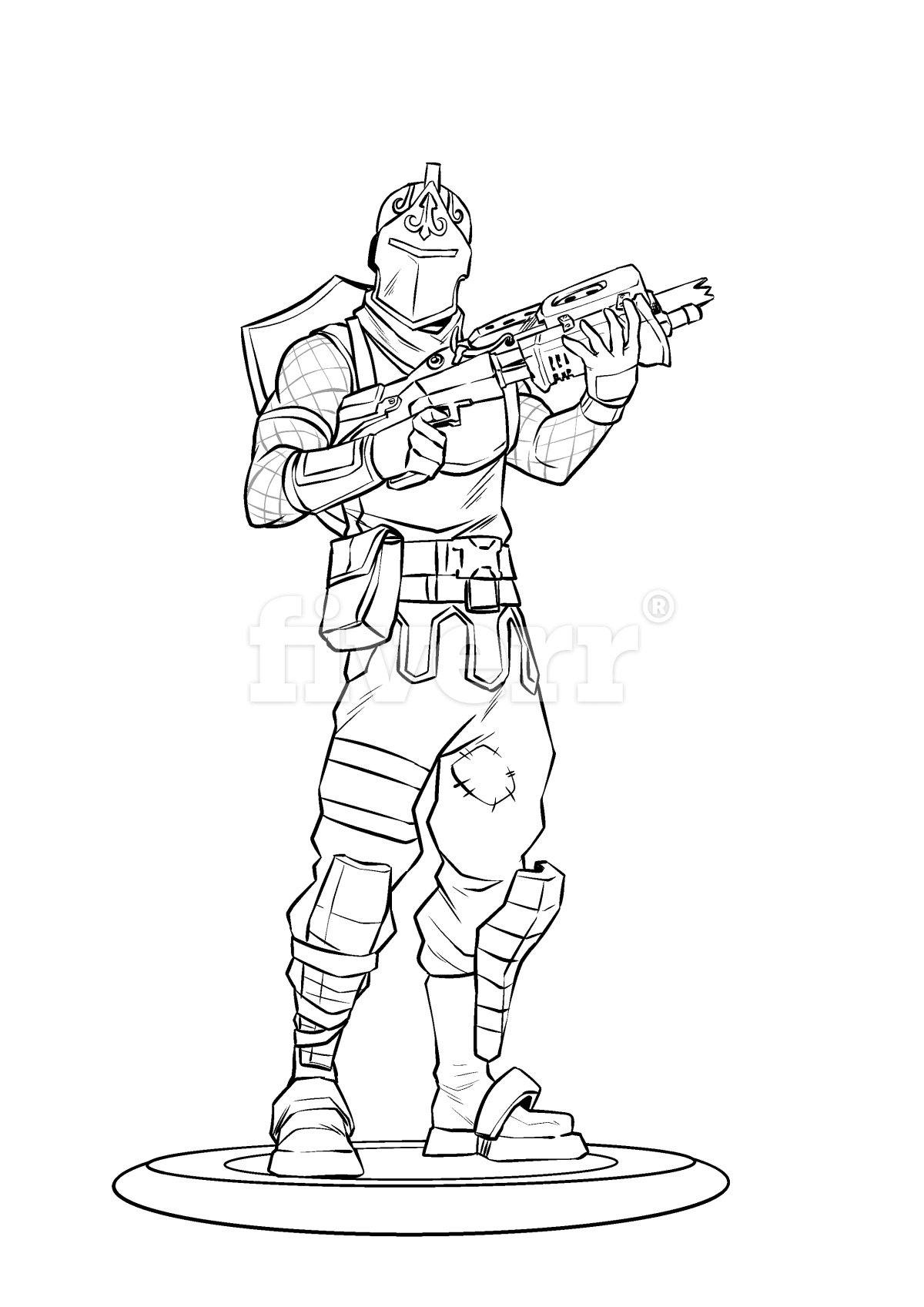 Draw you as a fortnite character by Ceronejuan