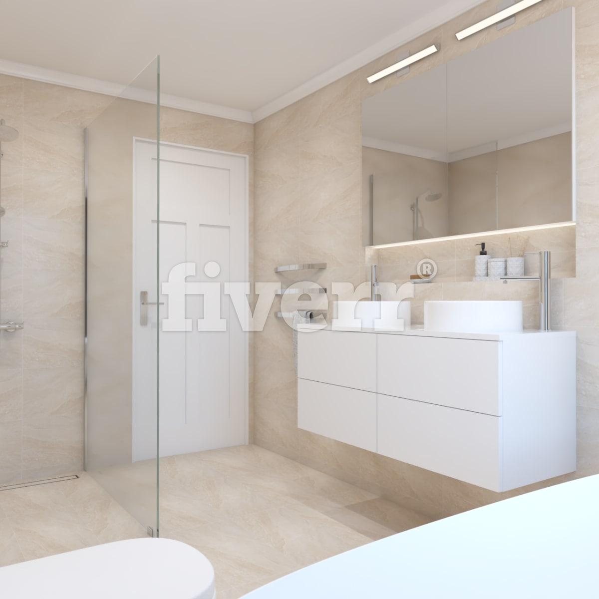 Create your 3d bathroom design by Noguerad