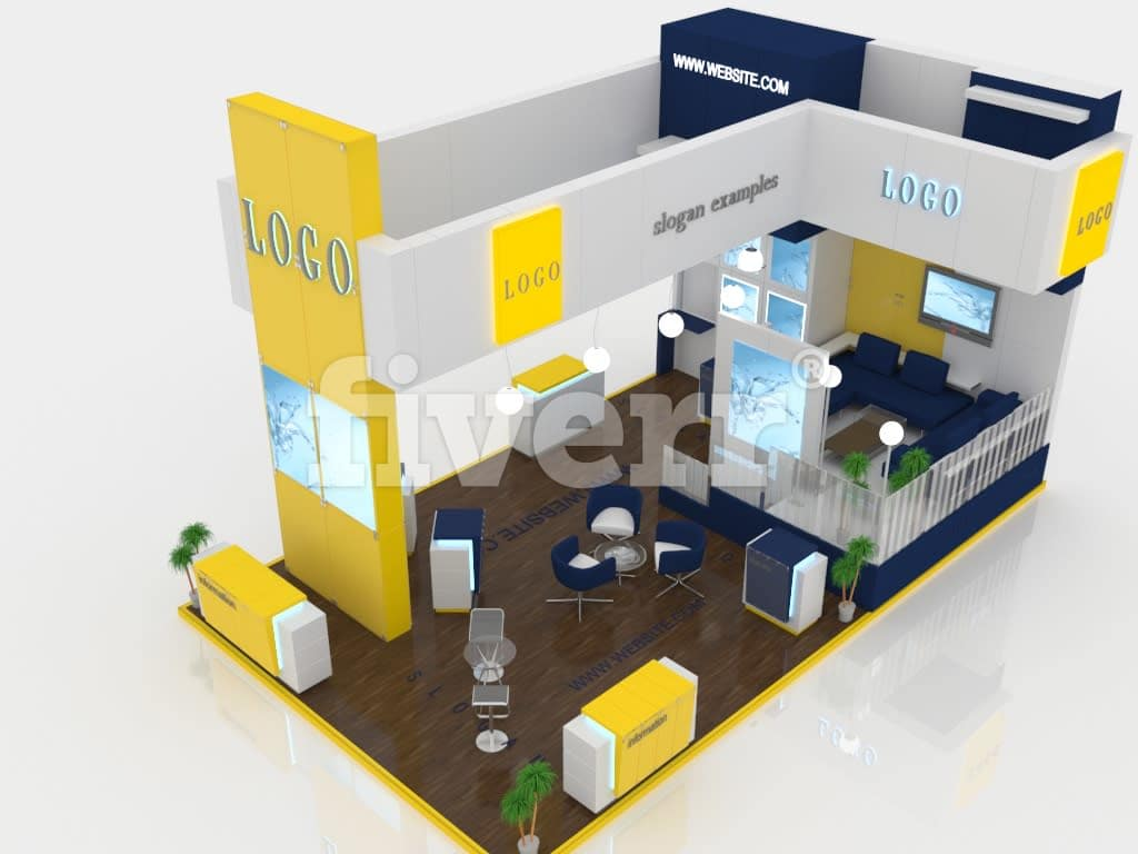 Exhibition Booth Floor Plan : Design your d exhibition booth kiosk by mahmoud d