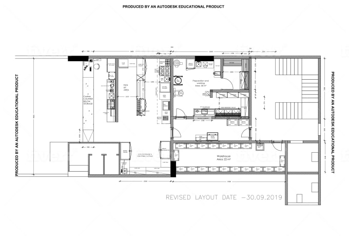 Plan Commercial Kitchen Layout Of Cafe Restaurant In Autocad By Shivirtomar Fiverr