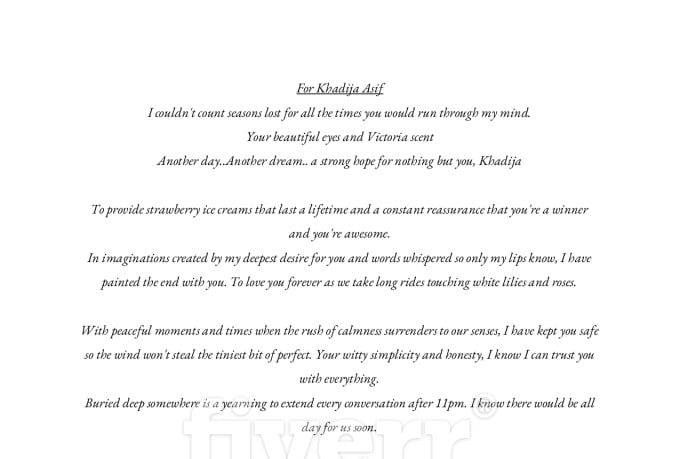 write a romantic and realistic poem for your loved one