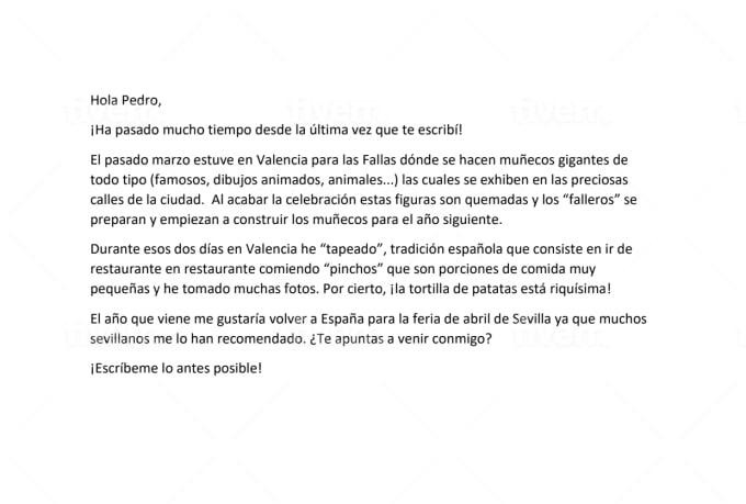 Help writing spanish essays
