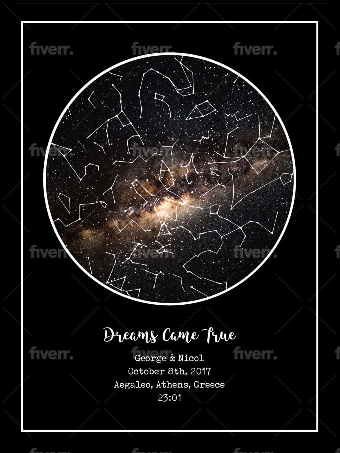 design a custom star map