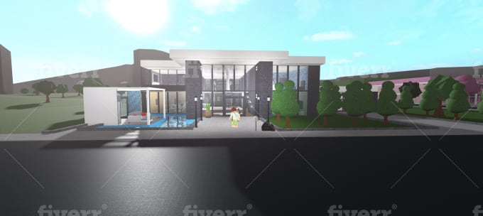 Modern Houses In Roblox Build You A Modern House Or Mansion In Bloxburg By Andrewblox