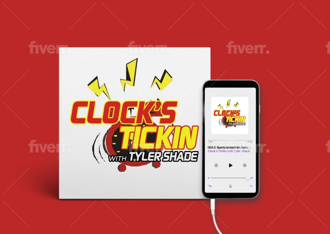design modern, photo, cartoon podcast cover artwork and logo
