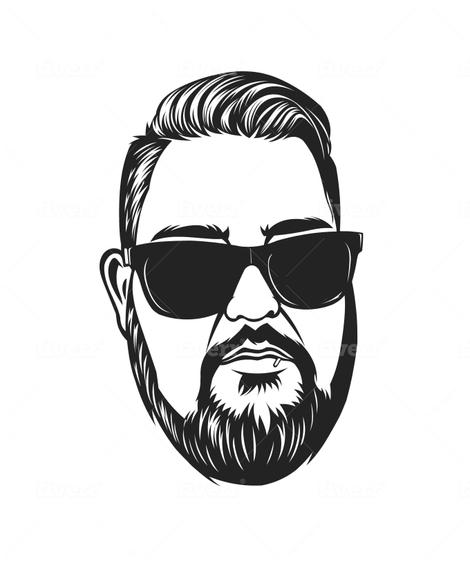 Create A Vector Art Portrait Black And White By Saratm