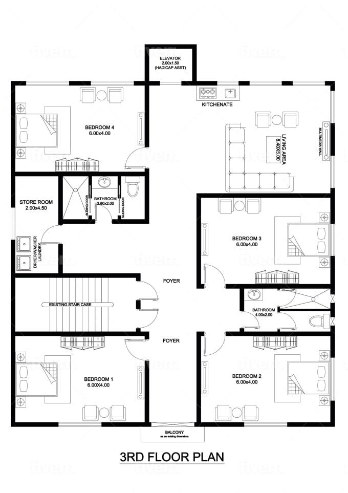 Design Your Floor Plans In 24 Hours By Engrzeshanmalik