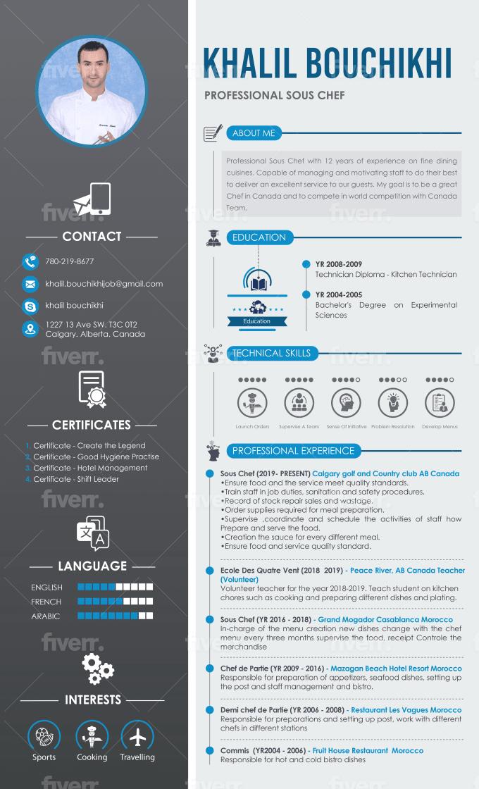 Create Custom Infographic Resume Design Cv Resume Design Cover Letter By Razaexpert922 Fiverr
