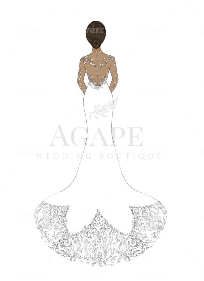 Design A Beautiful Dress Pencil Sketch By Aabira