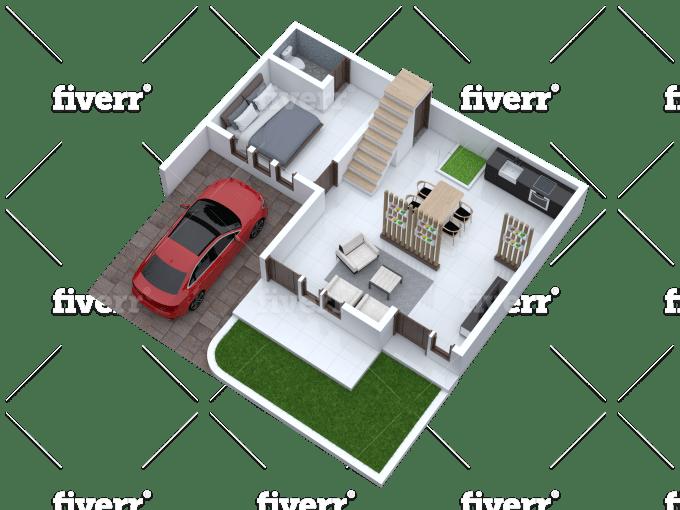 Create Basic 2d And 3d Floor Plan Rendering In Sketchup By Ndadesigns