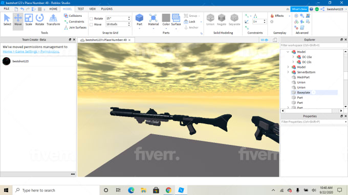 Roblox Studio Union Make A Low Poly Gun For Your Roblox Game By Zacharyarreguin
