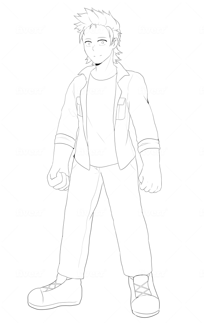 Draw You A Full Body Anime Illustration By Metyuu