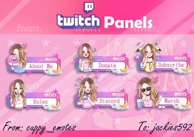 create custom twitch panels for you