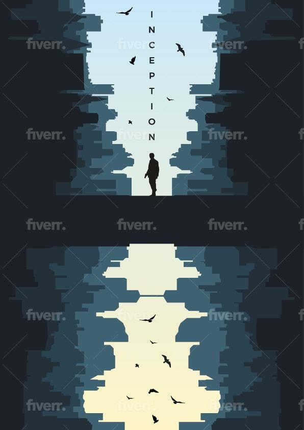 draw flat minimal vector illustration or artistic sticker