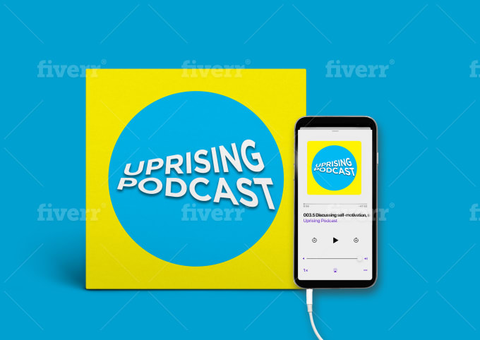 design your podcast cover and logo