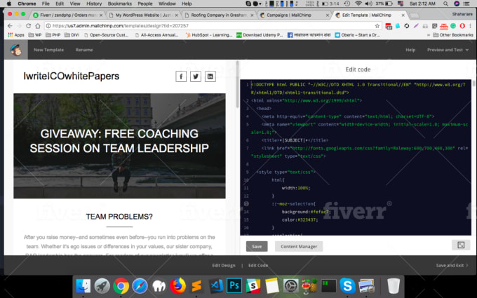 Design Email Newsletter In Mailchimp Aweber Getresponse Activecampaign By Zendphp