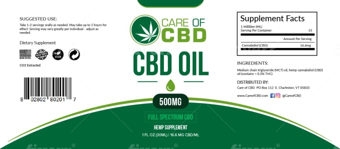 design cbd oil or hemp product, pre roll and label