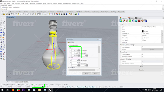 convert your sketchup, rhino, 3ds file into iges, step, stl, dae, gts and  others