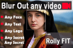 blur out face, any text , logo, etc in your video