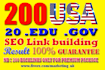 do provide 200 authority and trusted seo backlinks