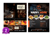 do elegant menu, brochures and flyers