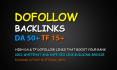 create 50 permanent SEO dofollow backlinks