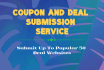 share your coupon code manually in 35 top coupon sites
