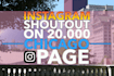 give you a shoutout on page with 17k men s audience