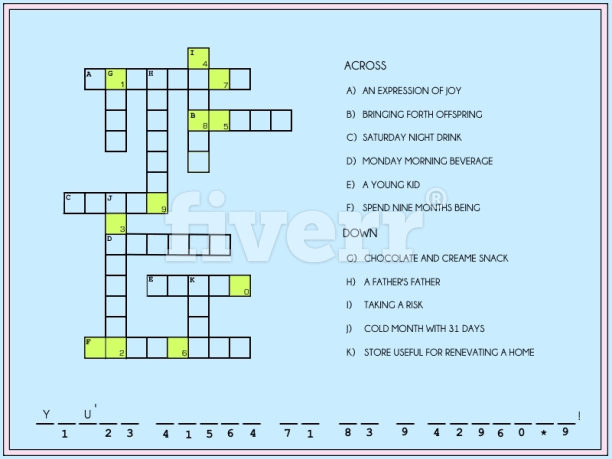 how to create a crossword puzzle in excel