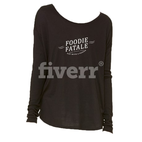 Do a tee and t shirt with your idea fiverr for Put my logo on a shirt