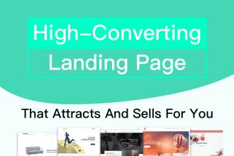 design high conversion landing page