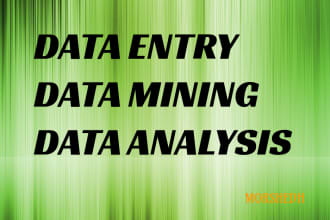 do web research, data mining, data entry work