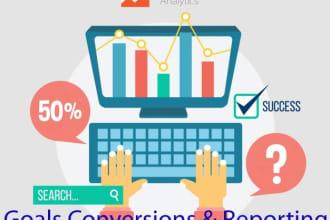 set up goals conversion tracking in google analytics