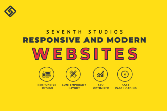 create responsive website with modern design