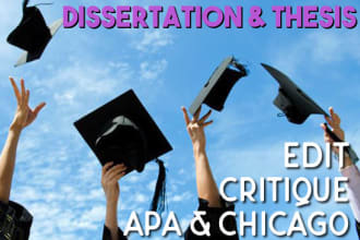 edit your dissertation or thesis