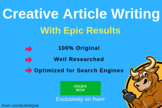 create original SEO articles or website content with my creative writing