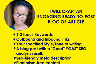 craft an engaging ready to post blog or article