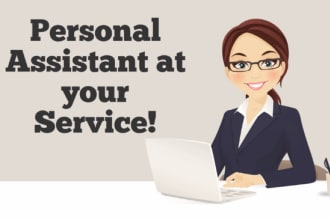 be your virtual assistant for any work of 4 hours
