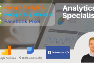 setup your google analytics, tag manager and facebook pixel