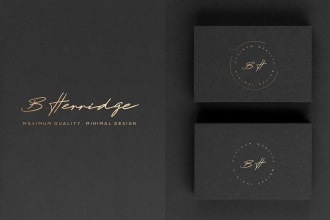 design a modern luxury signature logo
