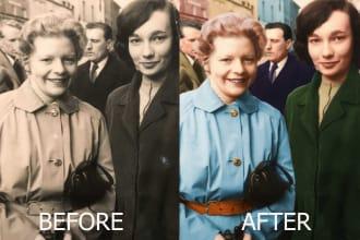 do photoshop retouching editing colorization