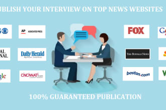 prepare and publish your interview on top news websites