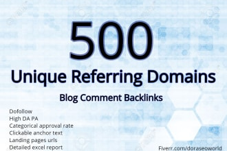 induct unique root domains comment backlinks to your site