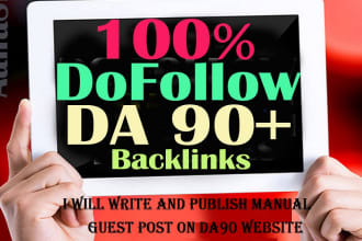 write and publish a guest post on da 90 website for dofollow backlink
