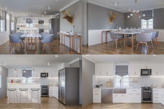 create photorealistic interior 3d renderings