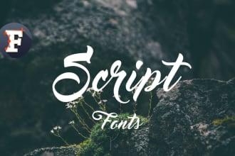 design a script font in ttf or otf