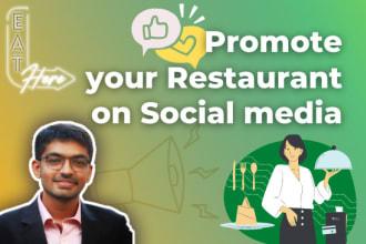 promote your restaurant on social media