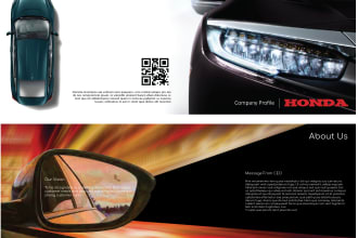 design company profile, brochure, business card, stationery