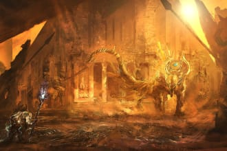 create an environment concept art or illustration for you